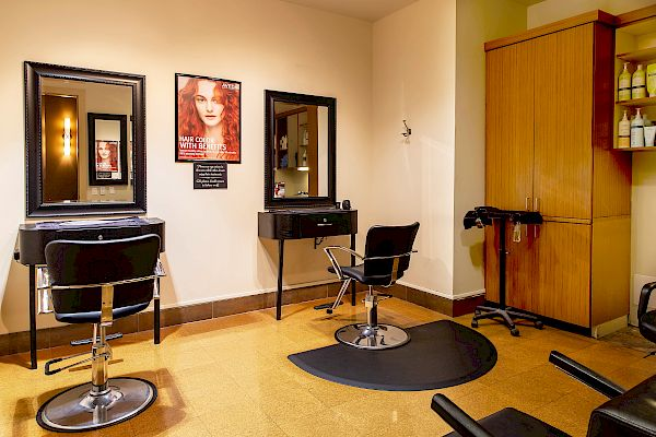 Hair salon set-up and chair